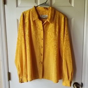 Vintage Mustard Shirt Top Blouse JH Collectibles